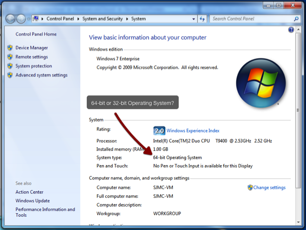 how to check if your computer can support 64 bit