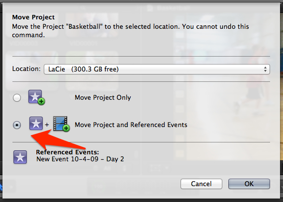 your external drive select Window -> Background Tasks in Final Cut ...